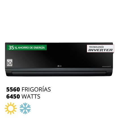 AIRE SPLIT FRIO CALOR 5560F / 6450W  INVERTER LG US-W246CRG4