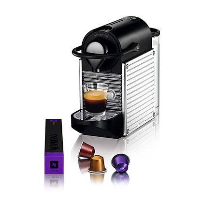 MAQUINA DE CAFE NESPRESSO PIXIE STEEL C60-AR-SS-NE