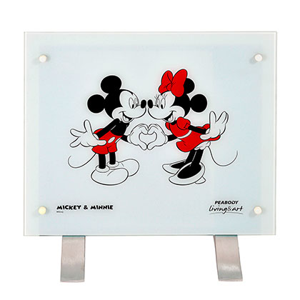 Vitroconvector Disney PE-VC10D1 Minnie y Mickey Blanco