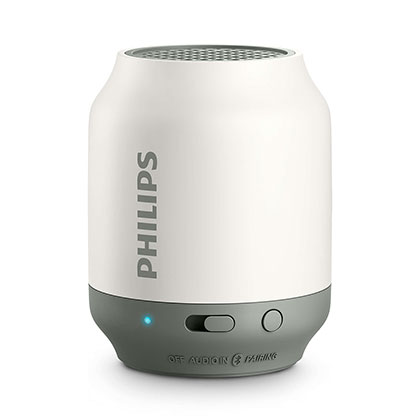 PARLANTE PORTATIL PHILIPS BT50W/00 BLANCO CON GRIS