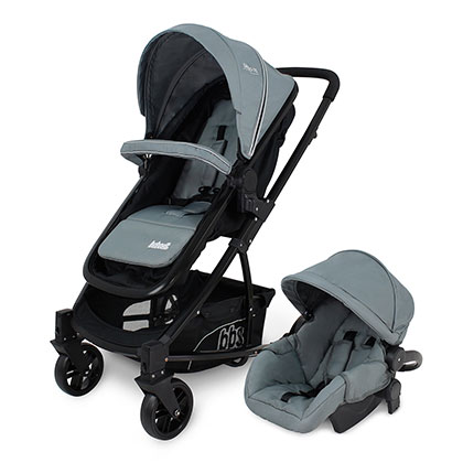 COCHECITO TRAVEL SYSTEM BEBESIT 1345TS GIALLO GRIS