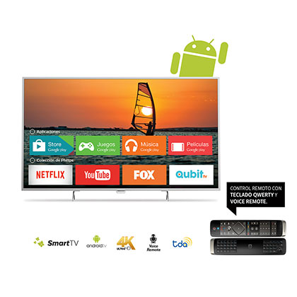"SMART TV LED 55"" 4K UHD PHILIPS 55PUG6601/77 ANDROID NETFLIX"