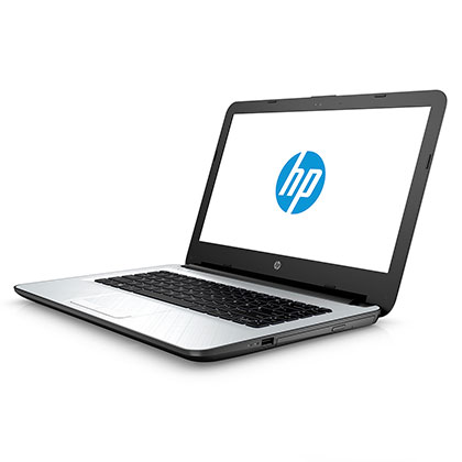 NOTEBOOK HP 14-AC111LA BLANCO CON NEGRO