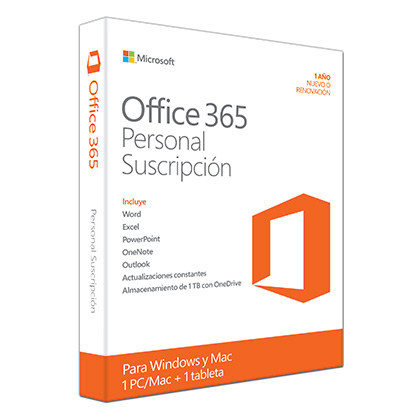 MICROSOFT OFFICE 365 PERSONAL - LICENCIA ANUAL