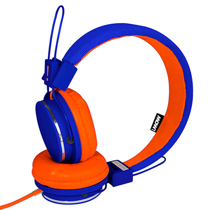 Auriculares MOW Spring Wired Azul con Naranja