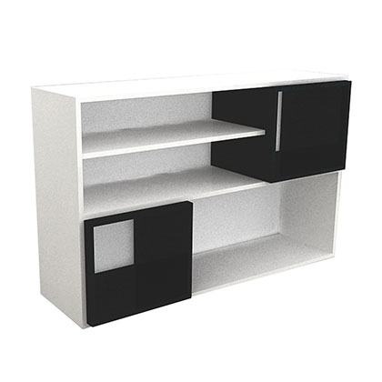 RACK PARA TV MAKENNA 618 BLANCO CON NEGRO