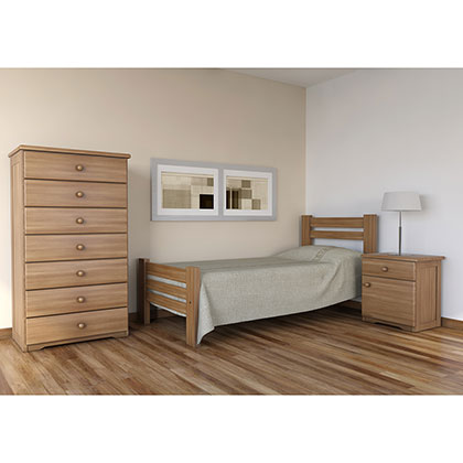 Cama 1 plaza makenna 202 3 pacifico casta o for Precio cama 1 plaza
