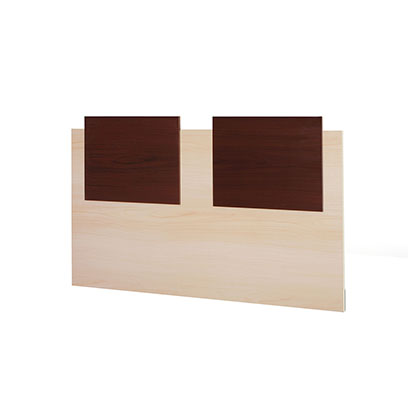 RESPALDO DE CAMA MAKENNA FORTALEZA 2 PLAZAS CHOCOLATE CON MAPLE