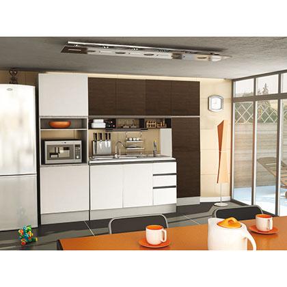 Modular de cocina makenna conjunto guido blanco y wengue for Cocinas wengue y blanco