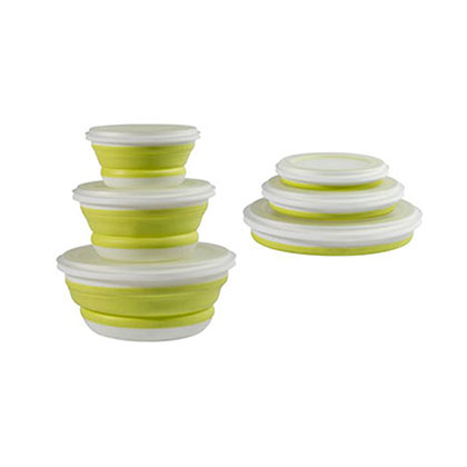 SET DE 3 TUPPERS PLEGABLE VERDE