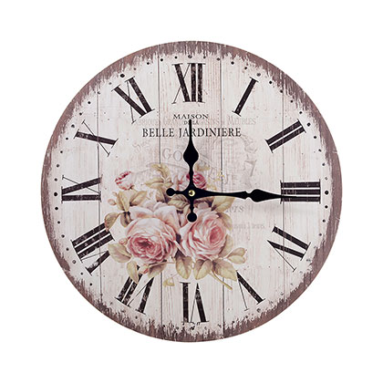 RELOJ DE PARED MAKENNA ROSE 34 CM