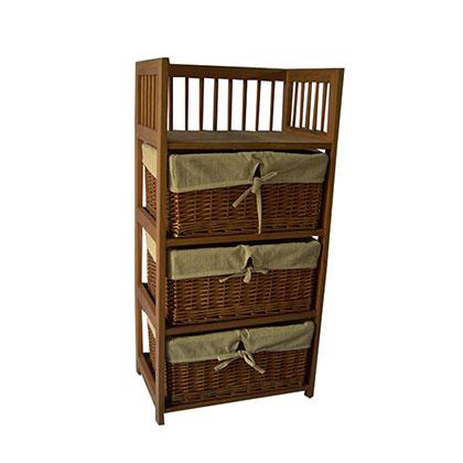 Mueble organizador makenna deco de 3 canastos con 1 estante for Mueble 3 estantes