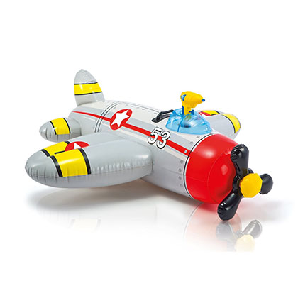 FLOTADOR INFLABLE INTEX 22696/3 AVION CON PISTOLA DE AGUA