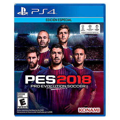 Juego para Play Station 4 Ps4 Pro Evolution Soccer Pes 2018