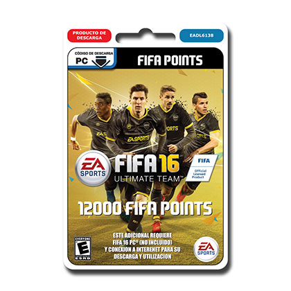 JUEGO PARA PC FIFA 16 ULTIMATE TEAM 12000 POINTS DESCARGABLE