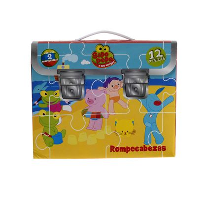 JUGUETE MAGIC MAKERS PUZZLE 2EN1 SAPO PEPE