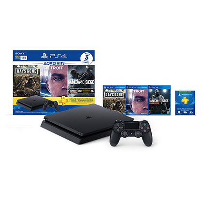 CONSOLA PS4 PLAYSTATION 4 1TB HITS BUNDLE 5