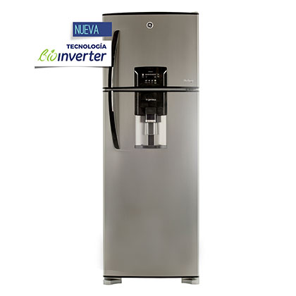 Heladera No Frost Bioinverter Con Dispenser 410 Lts. GE Appliances HGE455M12L Silver