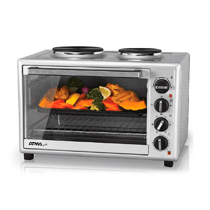 Horno Eléctrico Grill 2 Anafes 50 Lts. Atma HG5010AN Inox