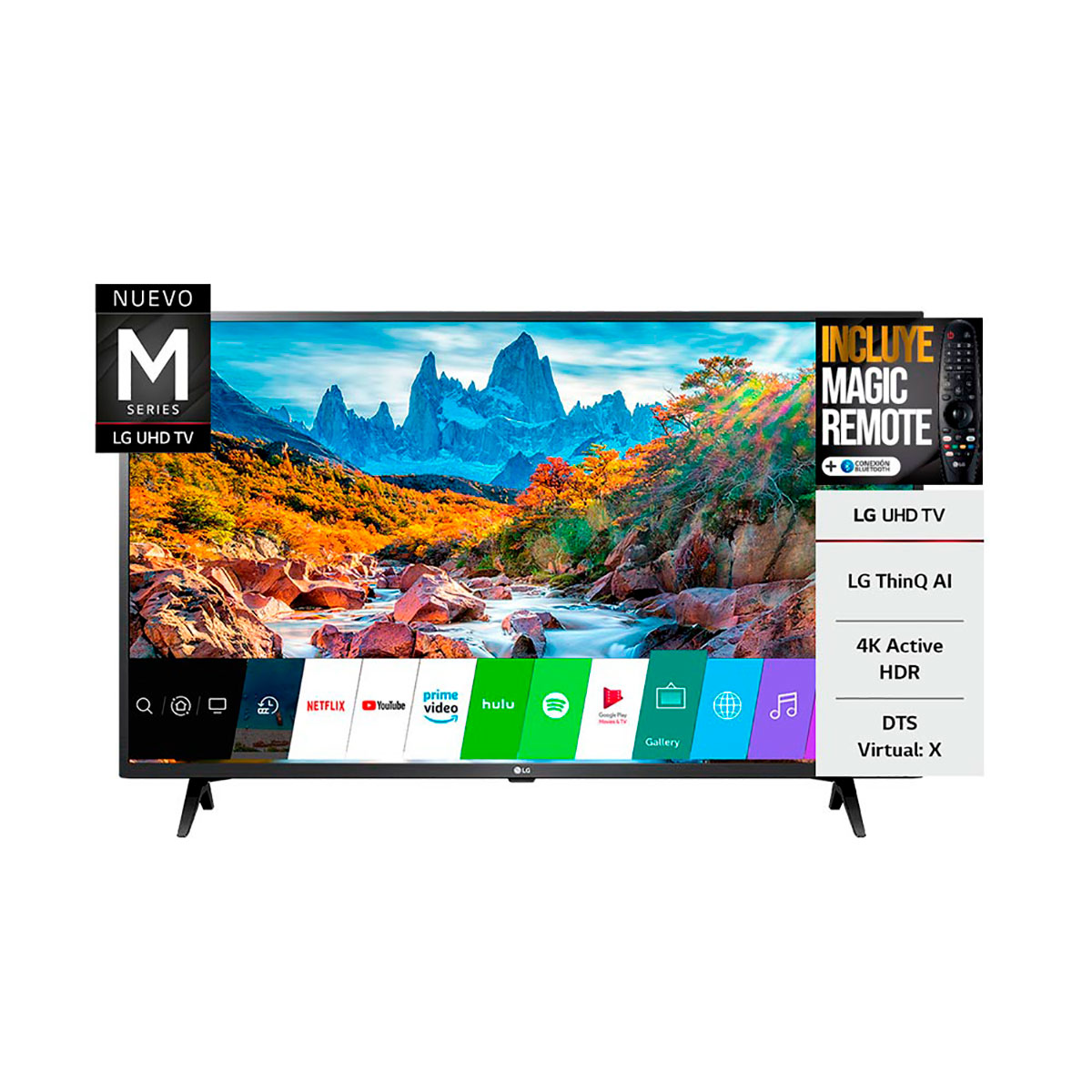 "Tv Smart Led 43"" Ultra Hd 4 K Bluetooth Lg 43UM7360"