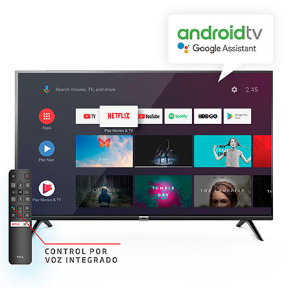 "Tv Smart Led 40"" Full Hd Android Control Por Voz TCL40S6500"