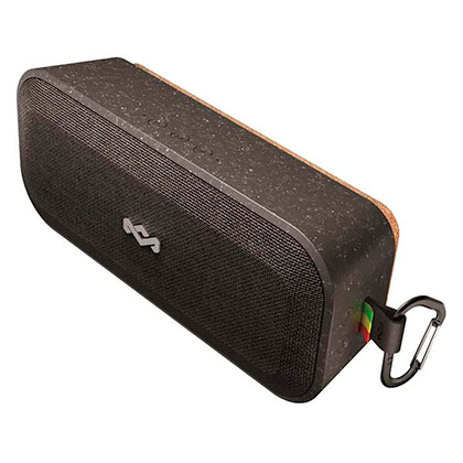 Parlante De Audio Portátil Bluetooth No Bounds Xl Signature Black House Of Marley EM-JA017-SB