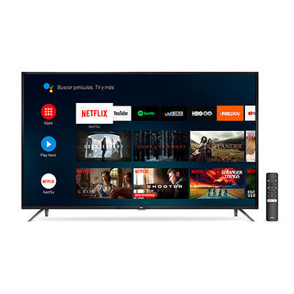 "Tv Smart Led 65"" Ultra Hd 4K Android Bluetooth Control Por Voz Rca X65ANDTV"