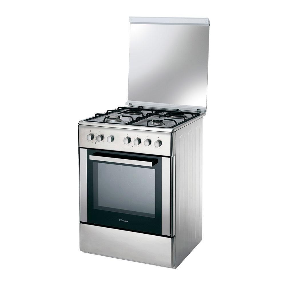 Cocina electrica gas candy ccg6503px plateado for Cocinas con horno de gas butano baratas