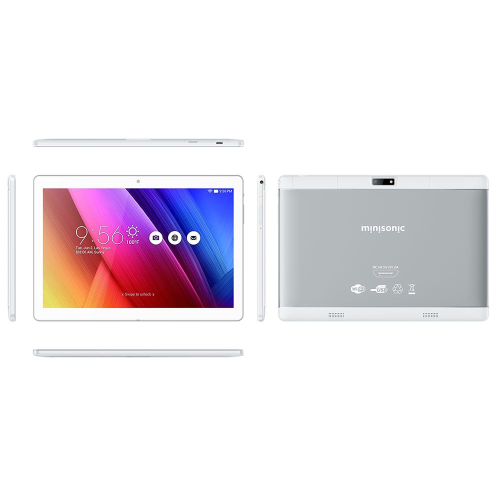 TABLET MINISONIC M1031G PLATEADO