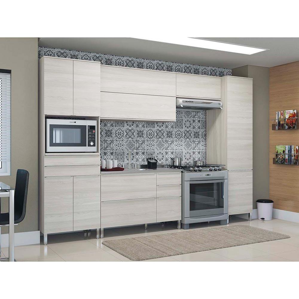 Mueble Modular Conjunto de Cocina Roble Blanco - Ribeiro.com.ar