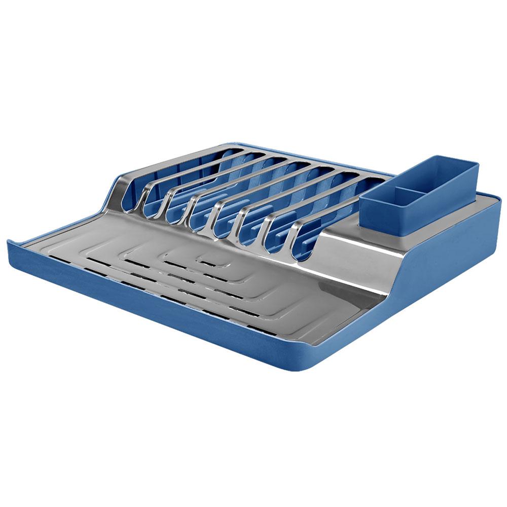 Escurreplatos minimal de acero inoxidable azul - Escurreplatos acero inoxidable ...