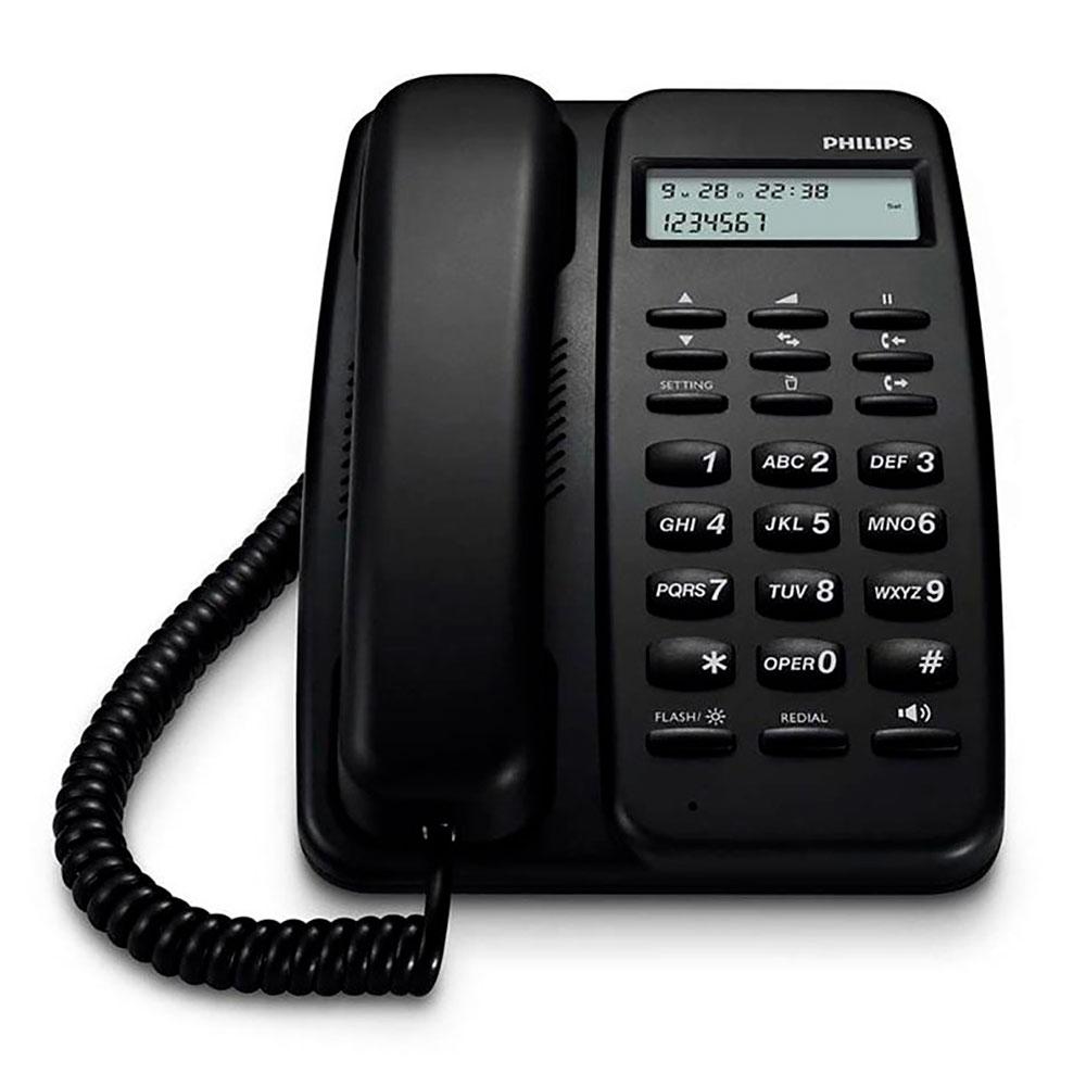 Telefono Fijo Philips Crd150b  77 Negro