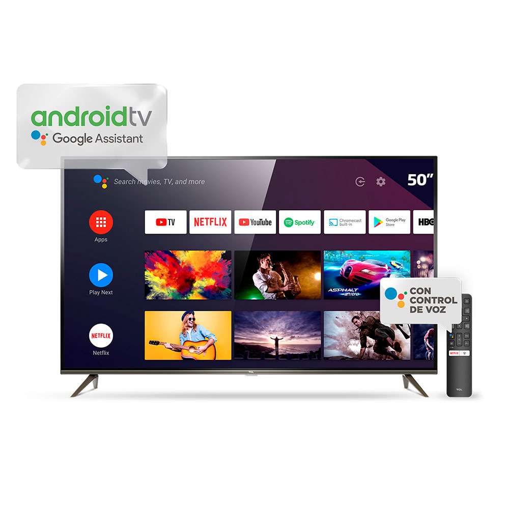 "Tv Smart Led 50"" Ultra Hd 4k Android Bluetooth Control Por Voz TCL L50P8M"