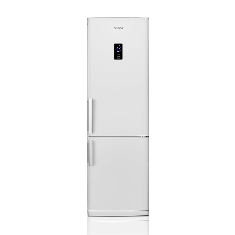 Heladera Con Freezer No Frost Combi Con Display Touch 320 Lts. Siam HSI-FC320BT Blanca