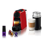 Cafetera Expresso Nespresso Essenza Mini + Aeroccino 3 Rojo A3ND30-AR-RE-NE