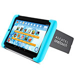 TABLET ALCATEL PIXI 3 KID GRIS CON BUMPER CELESTE