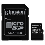 MEMORIA KINGSTON SDC10G2/16GB CON ADAPTADOR