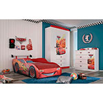 CAMA 1 PLAZA DISNEY 10335 CARS LINEA STAR ROJO