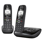 TELEFONO INALAMBRICO GIGASET AS405A DUO NEGRO